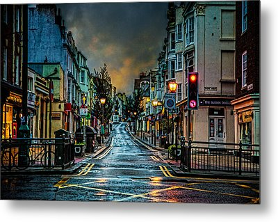 Wet Morning In Kemp Town Metal Print by Chris Lord