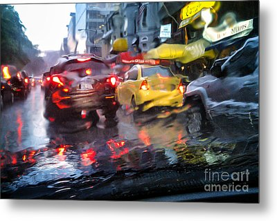 Wet Ride Home Metal Print