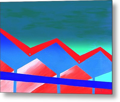 Wexler Folded Roof Eight Metal Print by Randall Weidner
