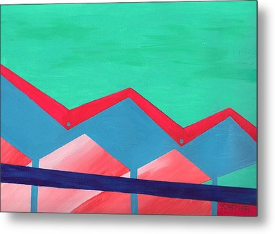 Wexler Folded Roof Seven Metal Print by Randall Weidner