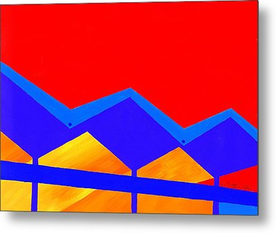 Wexler Folded Roof Two Metal Print by Randall Weidner
