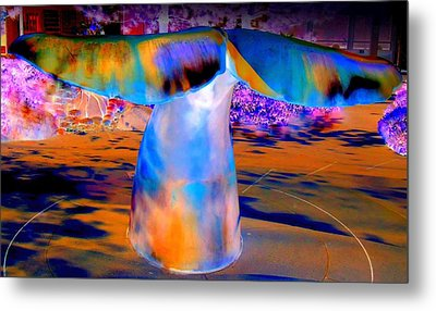 Whales Tail Metal Print by Randall Weidner