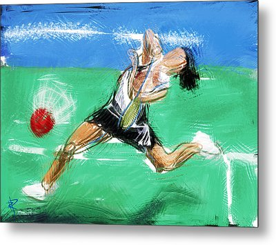 What A Racket Metal Print by Russell Pierce