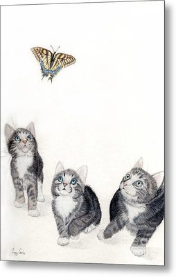 What Is That Metal Print by Peggy Covic