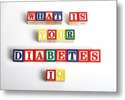 What Is Your Diabetes Iq Metal Print by Photo Researchers