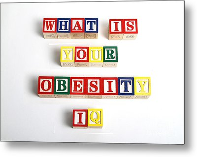 What Is Your Obesity Iq Metal Print by Photo Researchers