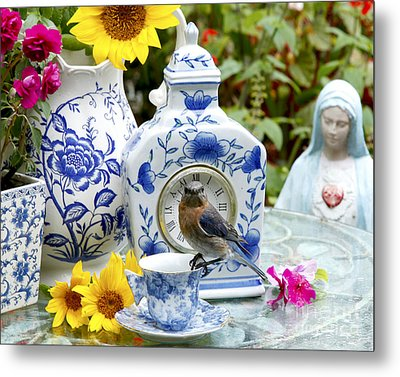 What Time Is Tea After Church Metal Print