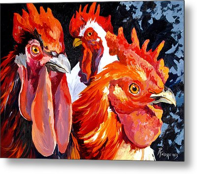 Metal Print featuring the painting What You Lookin At Boy by Rae Andrews