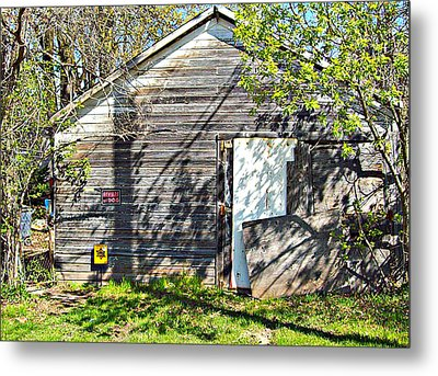 What's He Hiding In There? Metal Print by MJ Olsen