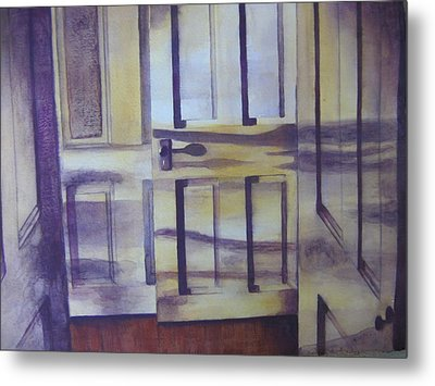 When One Door Closes Metal Print by Patsy Sharpe