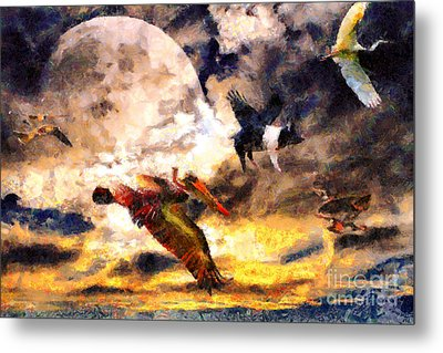 When Pigs Fly 2 Metal Print by Wingsdomain Art and Photography