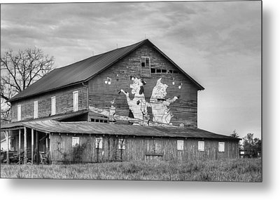 When The Farmer's Away Bw Metal Print by JC Findley