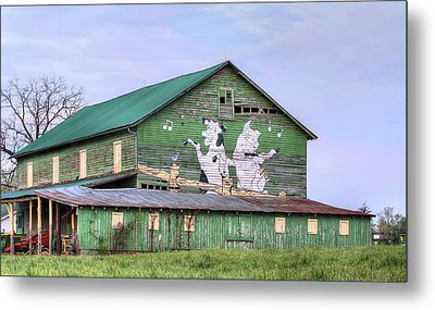 When The Farmer's Away Metal Print by JC Findley