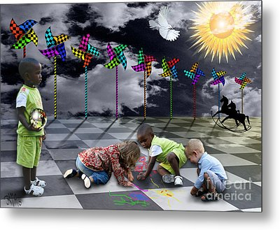 Metal Print featuring the digital art Where Do The Children Play? by Rosa Cobos
