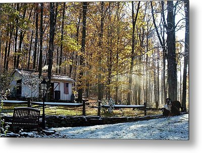Where Fall Meets Winter Metal Print by Jennifer Compton