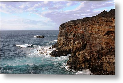 Where Land Meets Sea Metal Print by Luis and Paula Lopez