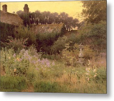 Where The Forgotten Garden Lies Asleep Metal Print by Georgina M de l Aubiniere