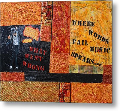 Where Words Fail Music Speaks Metal Print by Victoria  Johns