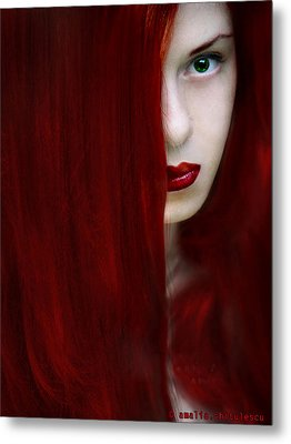 While Her Lips Are Still Red Metal Print by Amalia Iuliana Chitulescu