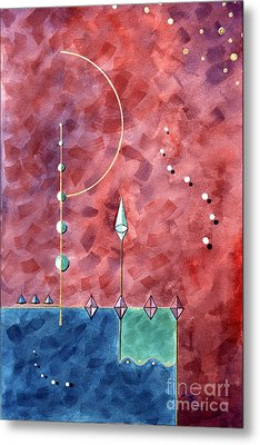 Metal Print featuring the painting Whimsy In Flight by Arthaven Studios