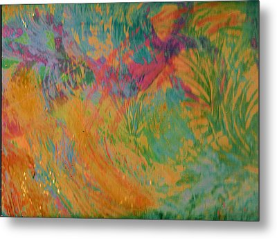 Whimsy To Brighten Your Day Metal Print by Anne-Elizabeth Whiteway
