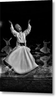 Whirling Dervish Metal Print by Okan YILMAZ