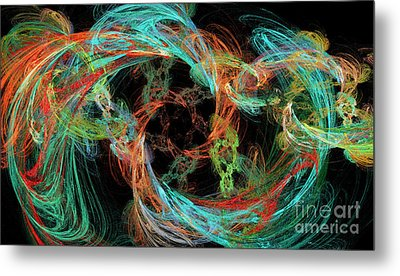 Whirly Gig Metal Print by Andee Design