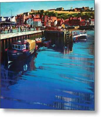 Whitby New Quay Metal Print by Neil McBride