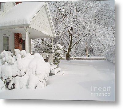 White Blanket Metal Print by Donna Cavender