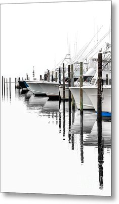 White Boats I Metal Print by Dan Carmichael