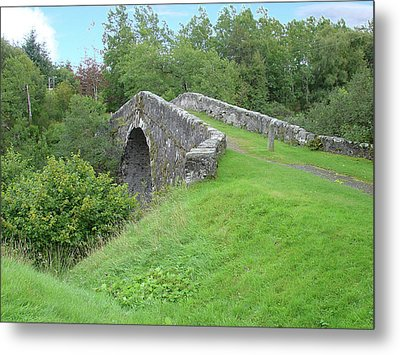 Metal Print featuring the photograph White Bridge Scotland by Charles and Melisa Morrison