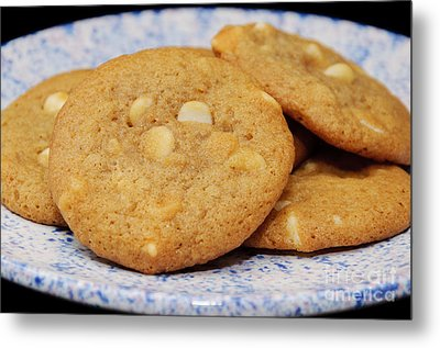White Chocolate Chip Cookies Metal Print by Andee Design