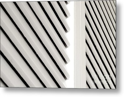 White Closet Door Detail Metal Print by Blink Images