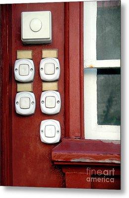 White Doorbells Metal Print by Carlos Caetano