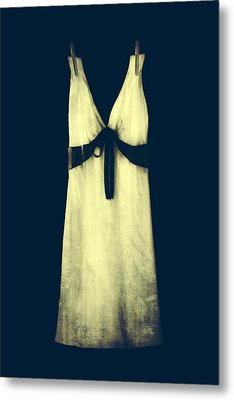 White Dress Metal Print