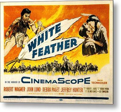 White Feather, Jeffrey Hunter, Robert Metal Print by Everett
