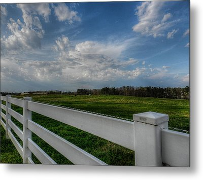 White Fence 002 Metal Print by Lance Vaughn