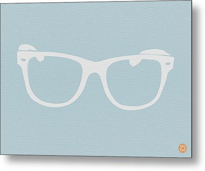 White Glasses Metal Print