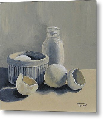 White On White Metal Print by Torrie Smiley
