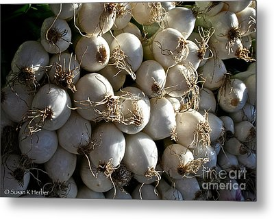 White Onions Metal Print by Susan Herber