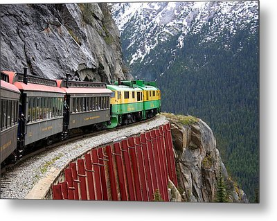 Metal Print featuring the photograph White Pass Train Ride by Laurel Talabere