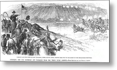 White River Attack, 1879 Metal Print by Granger