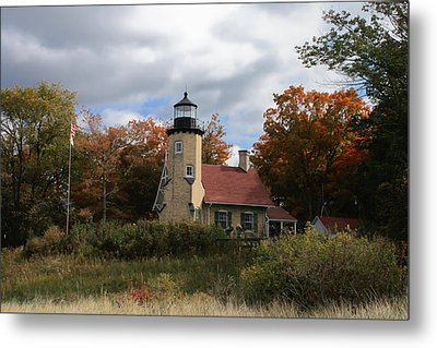 White River Lighthouse Metal Print by Richard Gregurich