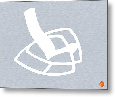 White Rocking Chair Metal Print