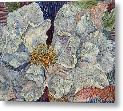 White Rose Metal Print by Erin Libby