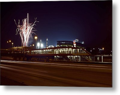 White Sox Homer Fireworks Metal Print by Sven Brogren