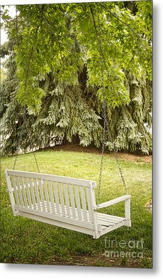 White Swing In The Green Metal Print by James BO  Insogna
