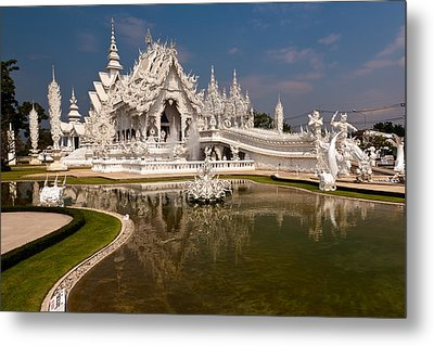 White Temple Metal Print by Adrian Evans