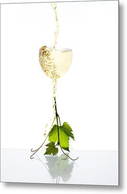 White Wine Metal Print by Floriana Barbu