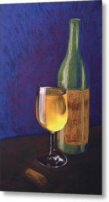 White Wine Metal Print by Garry McMichael